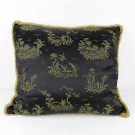 Black Chinese Pattern Cushion