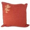 Terracotta Cord Cushion With Lion Pattern  (Y)