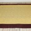 "8'10"" X 7'8""  Burgundy Border & Gold Brocade Bedcover  (Y)"