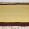 "8'10"" X 7'8""  Burgundy Border & Gold Brocade Bedcover  (Y)"