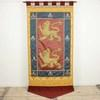 "8' X 3'6"" Yellow, Blue & Red Banner With Lion & Fleur De Lis Pattern (Y)"