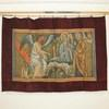 "6'10"" X 4'8"" Angel & Saints Tapestry With Burgundy Border  (Y)"