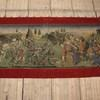 "9'4"" X 4'10"" Red Velvet Border Tapestry 0f Battle  (Y)"