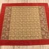 9' X 7'8 Red Velvet Border Gold Leaf Patt Tapestry  (Y)