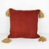 "18"" Terrcotta Cord Cushion With Gold Tassel  (Y)"