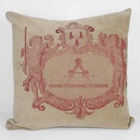 Fawn Cushion With Pink Pattern Coat Of Arms  (Y)