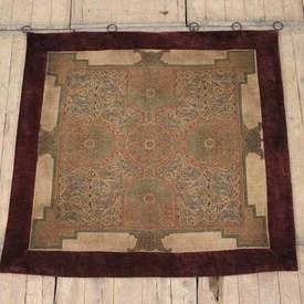 """3'10""""  x  3'10"""" Red & Gold Celtic Patt Tapestry"""