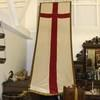 "13' X 4'4"" Long, St George Cross Banner With Gold Braid Border & 2 Lrg Tassles. (Y)"