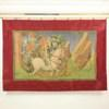 "4'7""X 6'9"" King On White Horse With Knights Painted Tapestry With Red Border (Y)"