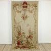 "3'11"" X 7'11"" Gold & Cream Aubusson Panel With Floral Bouquet & Partridge. (Y)"