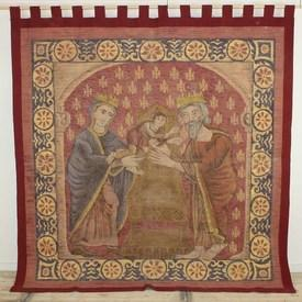 """7'2"""" X 6'8"""" King Herod & Queen Passing Child, Wall Hanging Printed On Canvas. (Y)"""