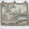 "3'4"" X 2'11"" Wall Hanging Tapestry Illustrating Lady & Gent Sitting With Lamb. (Y)"