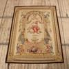 "5'7"" X 7'7"" Brown Framed Fine Aubusson Wall Hanging, Goddess On Cloud With Cupid. (Y)"