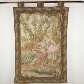 """5' X 3'4"""" Ladies & Gent In Victorian Garden Tapestry  (Y)"""