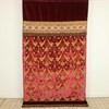 "6'7"" X 4'3"" Red & Gold Brocade & Velvet Bed Runner  (Y)"