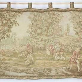 """5'9"""" X 3'6"""" Victorian Tapestry Of Hunting Party  (Y)"""