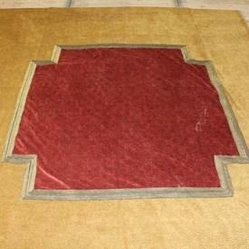 8'  x  8' Gold & Red Bed Cover with Center Cross Pattern
