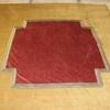 8' X 8' Gold & Red Bed Cover With Center Cross Pattern  (Y)