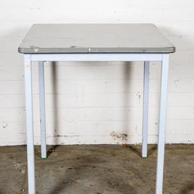 Metal Leg Melamine Top Table