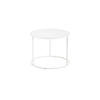 Med Circ White Frame 'ile' Lamp Table With White Glass Top (36 Cm H X 36 Cm) (Also Available In 2 Other Sizes)