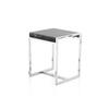 Square Chrome Frame 'up3' L/Table With Black Marble Top (50 Cm H X 42 Cm X 40 Cm)