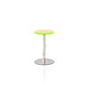 Green Perspex/Chrome Turn Side Table (47 Cm H X 29 Cm)