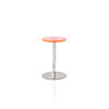 Pink Perspex/Chrome Turn Side Table (47 Cm H X 29 Cm)
