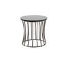 Circ Black Glass Slatted Side Table (43 Cm H X 42 Cm)