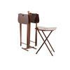 Danish 60's Rosewood Set Of Four Bi Fold Tables With Stand 80 Cm H X37 Cm (Stand) 55 Cm H X 43 Cm X 33 Cm (Table) (, Vintage)