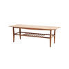Rect Wooden Spotted Top Coffee Table With Slatted Shelf