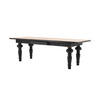 Turned Leg 'elegance' Kitchen Table With Distressed Top (L 244 Cm X W 92 Cm X H 77 Cm)