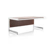 Rosewood & Chrome Desk With Vanity Panel
