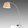 Chrome Arc Table Lamp With Cream Shade