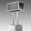 Rect Black & Chrome Deco Table Lamp With Shade