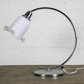 Chromed Swan Neck Lamp