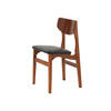 Rosewood Single Chair With Black Vinyl Seat