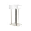 Clear Perspex Lectern With 4 Thick Steel Poles ( H: 120cm W: 70cm D: 50cm )