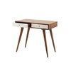 Acacia Wood  Mid Century Style Otto 2 White Drawer Desk (88 Cm X 51 Cm X 71 Cm)
