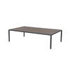 Rect Pewter 'jan' Coffee Table With Eucalyptus Top (150 Cm X 90 X 40 )
