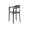 Anthracite Grey Steelwood Dining Chair