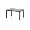 Rect. Pewter ' Jan ' Lamp Table With Black Marble Top (55 Cm X 40 X 30 Cm)