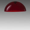 Red Acrylic Large Dome 'oluce' Hanging Lamp