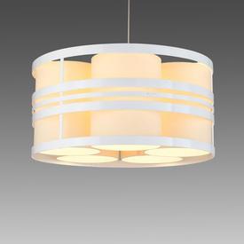White & Cream Deco ''Circus'' Hanging Lamp