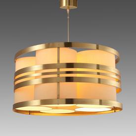 Brass & Cream Deco ''Circus'' Hanging Lamp