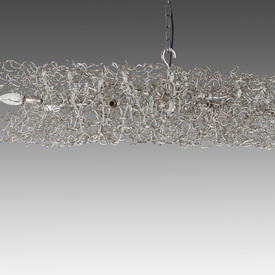 Oval Nickel Wire ''Hollywood'' Hanging Lamp