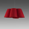 Red Pleated Fabric 'florinda 6' Hanging Lamp
