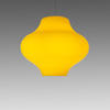 Yellow Glass Murano Spinning Top Hanging Lamp