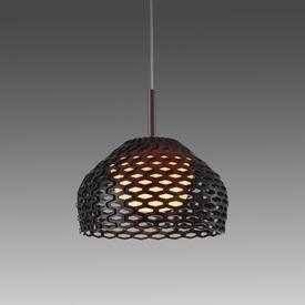 Large Ochre Brown Perspex Perforated ''Tatou'' Hanging Lamp