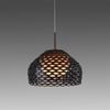 Large Ochre Brown Perspex Perforated 'tatou' Hanging Lamp