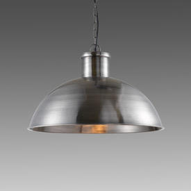Antique Pewter ''Spitalfield'' Dome Hanging Lamp